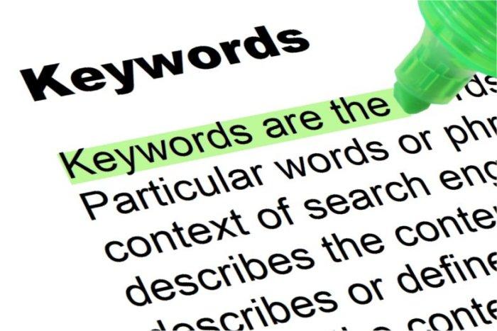 Analisi parole chiave: tipologia di keyword